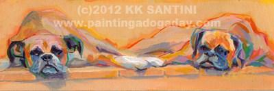 """Tanning Bed"" original fine art by Kimberly Santini"