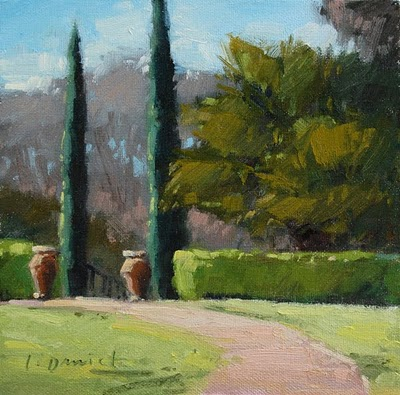 """Plein Air Demo - Garden Portal"" original fine art by Laurel Daniel"