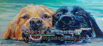 """""""Stick It, Finished"""" original fine art by Kimberly Santini"""