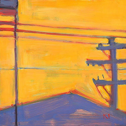 """""""Light at Lucy's"""" original fine art by Kevin Inman"""