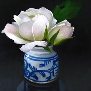 """Roses 4x4"" original fine art by M Collier"