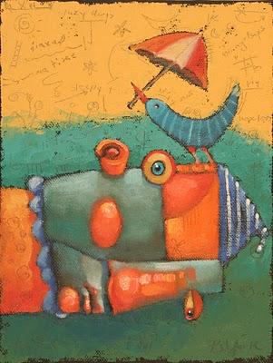 """Summatime Bird"" original fine art by Brenda York"