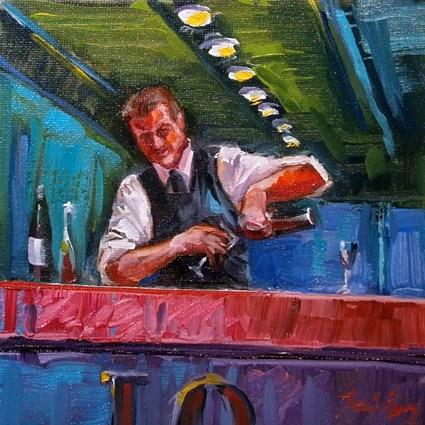 """""""an der Bar"""" original fine art by Jurij Frey"""