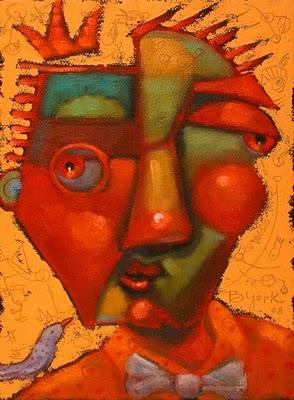 """""""Guys In Ties #6, Royal Wisenheimer"""" original fine art by Brenda York"""