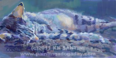 """Kittyscape"" original fine art by Kimberly Santini"