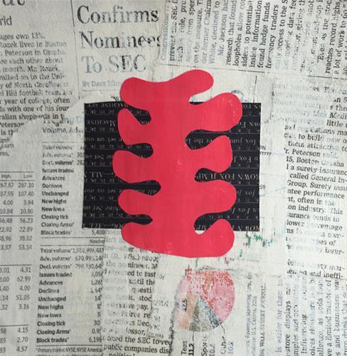 """COLLAGE No. 34"" original fine art by Linda Popple"