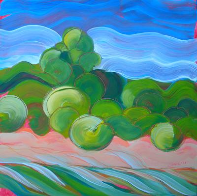 """""""Willamette River 22"""" original fine art by Pam Van Londen"""