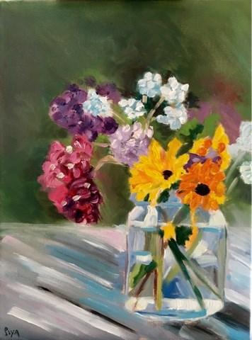 """Exploring Florals"" original fine art by Piya Samant"