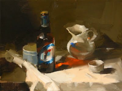"""Beer and Friends"" original fine art by Qiang Huang"