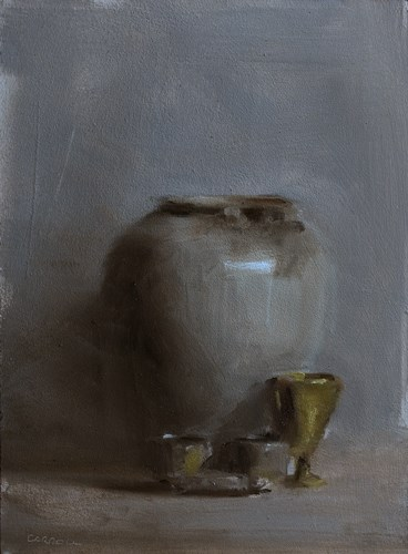 """Vase with Dippers and Cup"" original fine art by Neil Carroll"