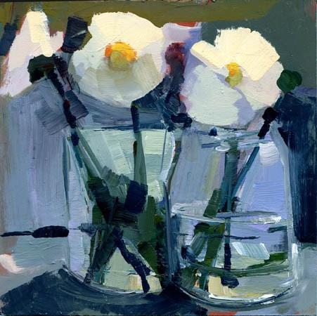 """#1045 Two Jars, One Ledge"" original fine art by Lisa Daria"