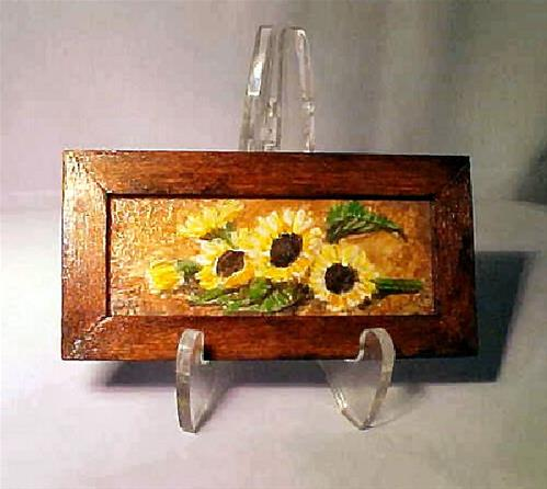 """Framed Miniature Sunflowers"" original fine art by Patricia Ann Rizzo"