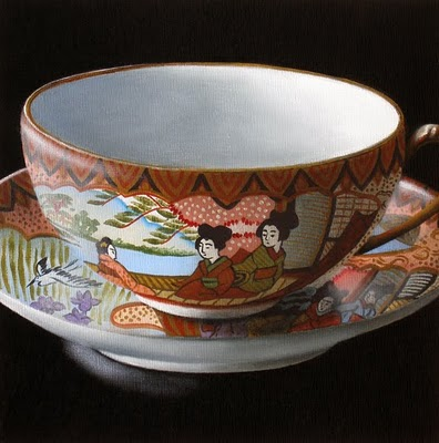 """""""Teacup Study: My Mother's Collection III"""" original fine art by Jelaine Faunce"""