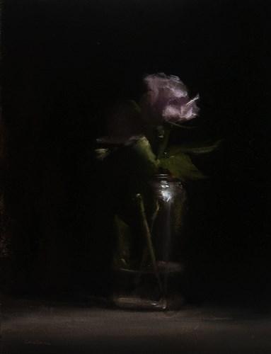 """""""Rose in Jar"""" original fine art by Neil Carroll"""