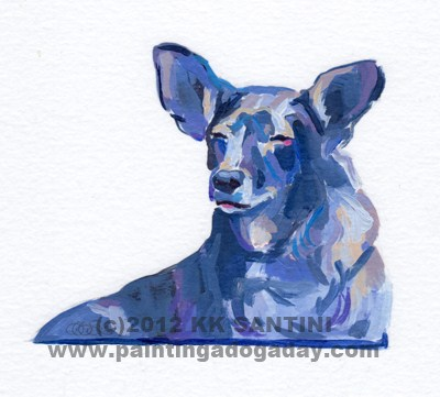 """""""Sweetpea, A Painted Sketch"""" original fine art by Kimberly Santini"""