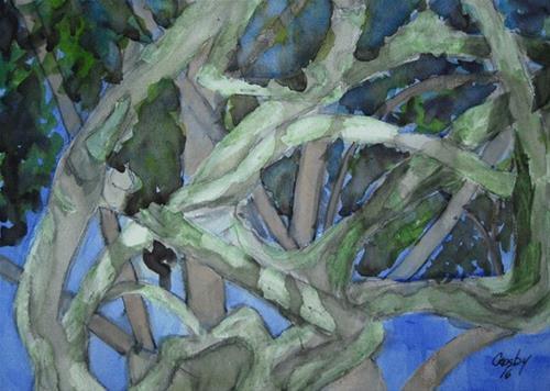 """Branch Government"" original fine art by Donna Crosby"