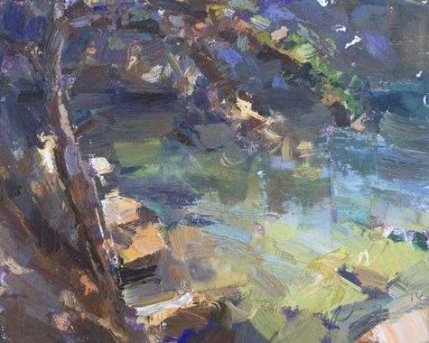 """Seascape California 15"" original fine art by Roos Schuring"