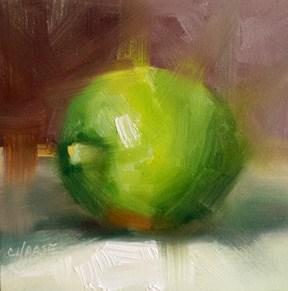 """Lime"" original fine art by Cindy Haase"