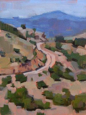 """""""Dusty Road --- SOLD"""" original fine art by Carol Marine"""