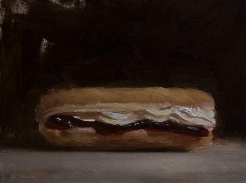 """""""Jam and Cream Doughnut"""" original fine art by Neil Carroll"""