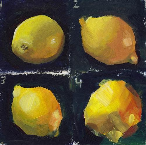 """Loose Lemon"" original fine art by J M Needham"