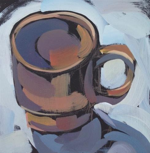 """Little Brown Mug"" original fine art by Kat Corrigan"