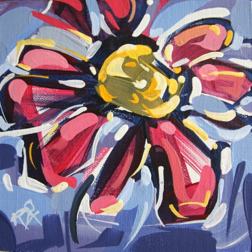 """Flower Abstraction 232"" original fine art by Roger Akesson"