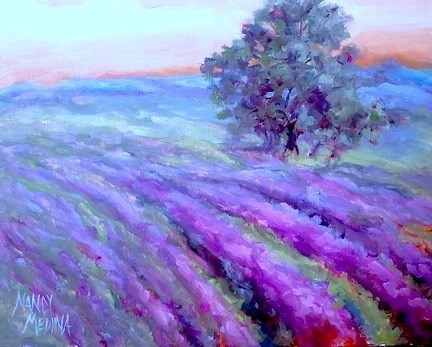 """""""Six Days to Painting Brilliant Colors! And a Sneak Peek at One of the Lessons..."""" original fine art by Nancy Medina"""