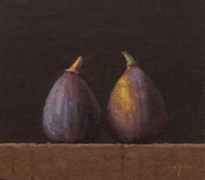 """Two Figs No. 3"" original fine art by Abbey Ryan"