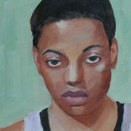 """""""FACE No. 101"""" original fine art by Linda Popple"""