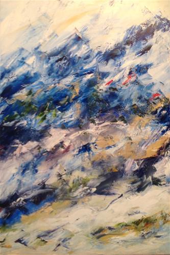 """Snow Day"" original fine art by Debra Kennedy"
