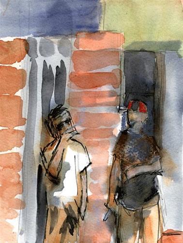 """Smoke Break SC"" original fine art by Donna Crosby"