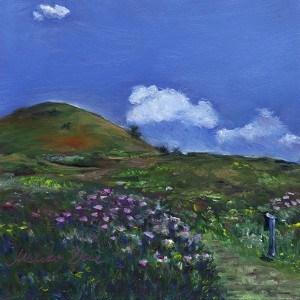 """Spring Cloud"" original fine art by Mariko Irie"