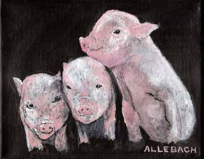 """""""Ferkel"""" original fine art by Jo Allebach"""