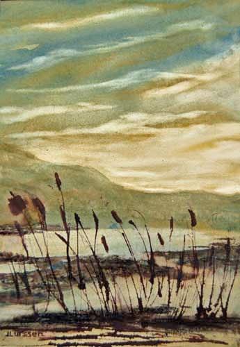"""Marsh Morning"" original fine art by Jean Lurssen"