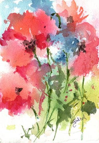 """Summer Symphony 1"" original fine art by Sue Dion"
