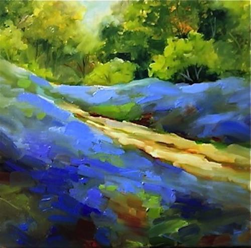 """Ireland Bluebells and a Texas Homecoming"" original fine art by Nancy Medina"