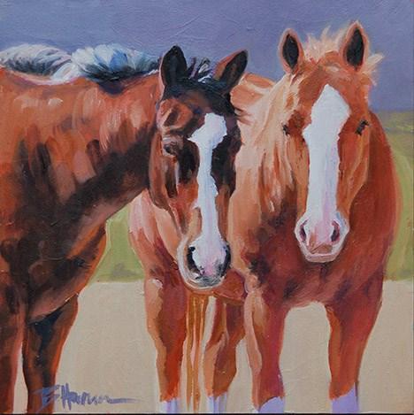 """Sharing Secrets"" original fine art by Barbara Harmon"