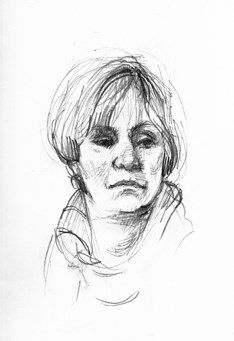 """Portrait Drawing"" original fine art by Kathy Weber"