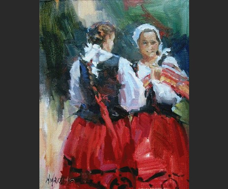 """""""A Painting Review"""" original fine art by Mary Maxam"""
