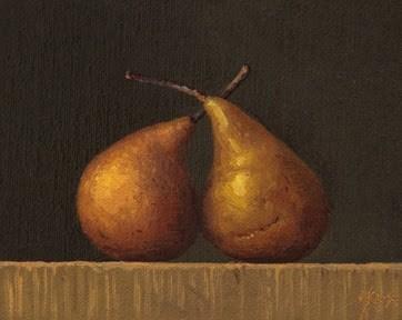 """""""Two Bosc Pears  (+ NEW Workshop Updates)"""" original fine art by Abbey Ryan"""
