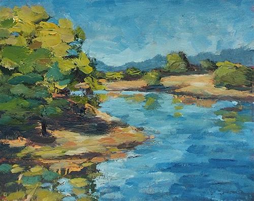 """Salvation Lake"" original fine art by J. Farnsworth"
