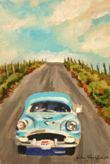 """Sunday Drive"" original fine art by JoAnne Perez Robinson"
