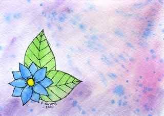 """""""Blue"""" original fine art by Kali Parsons"""