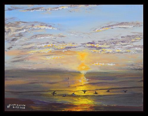 """Skimmers"" original fine art by Captain B Smith"