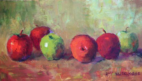 """Apples #50, Acrylic Still Life by Amy Whitehouse"" original fine art by Amy Whitehouse"