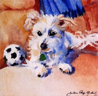 """Best Friend"" original fine art by JoAnne Perez Robinson"