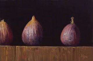 """Three Figs II"" original fine art by Abbey Ryan"