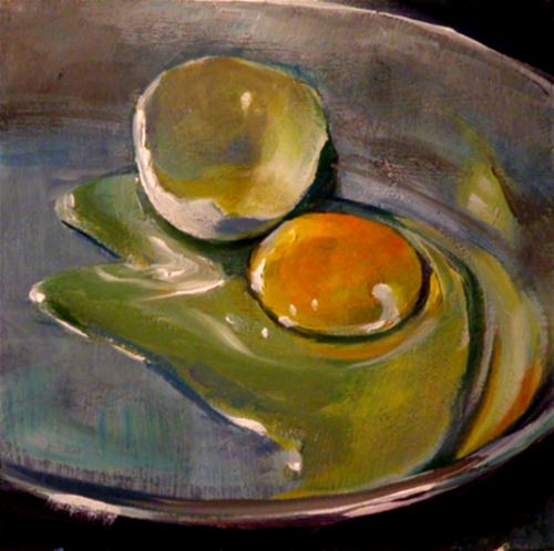 """""""EGG IN THE PAN"""" original fine art by Brian Cameron"""