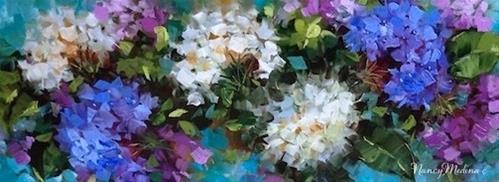 """""""Love Abounds Hydrangea Flower Painting by Nancy Medina"""" original fine art by Nancy Medina"""